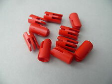 Lego 10 charnieres rouges set 196 252 215  /10 red Arm Piece w/ Towball Socket