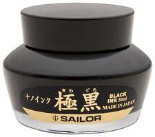 Sailor Fountain Pen KIWAGURO Ink Bottle 50ml Nano Black Ink with Ink Reserver
