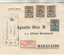 Curacao Registered Airmail Cover