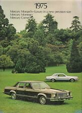 Mercury Comet Monarch Montego 1975 USA Market Sales Brochure