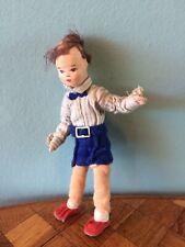 Junge Erna Meyer 50er 60er Biegepuppe Puppenstube Puppenhaus 1:12 dollhouse doll