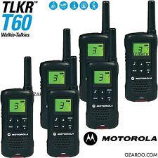 6 x Motorola Talker TLKR T60 2 Way Walkie Talkie 8km PMR 446 Radio - Sextet Pack
