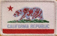 CALIFORNIA Flag Patch W/ VELCRO® Brand Fastener Morale Emblem White Border #7