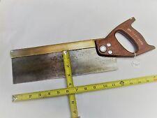 """Tenon Saw, Vintage Spear & Jackson, Brass Backed Tenon Saw, 12""""  Blade,14 PPI"""
