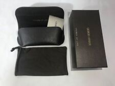 Giorgio Armani Brown Sunglasses Eyeglass Soft Case Elastic Strap Glasses Pouch