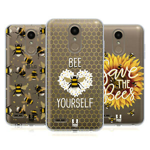 HEAD CASE DESIGNS BEES SOFT GEL CASE & WALLPAPER FOR LG PHONES 1