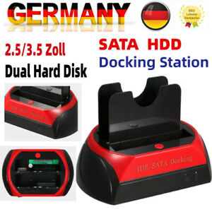 "HDD Hard Disk Drive Docking Station Festplatten für 2.5/3.5"" IDE SATA Hub"