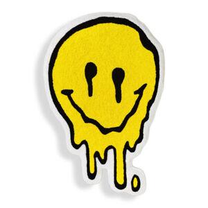 New Custom Made Melting Smiley Face Acid Yellow Emoji Floor Door Mat Rug Carpet