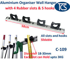 NEW Aluminium Mop & Broom Organiser / Wall Mounted Holder / Rack Free Shipping