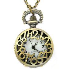 NUMERI GHIRLANDA collana orologio tasca catena oro color antico BLOGGER VINTAGE