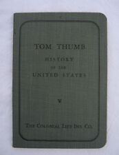 VINTAGE 1932 TOM THUMB HISTORY OF THE UNITED STATES MINI BOOKLET COLONIAL LIFE