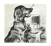 Irish Setter - Morgan Dennis Dog Print - MATTED
