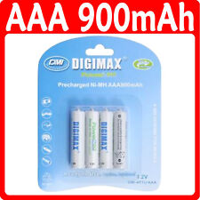 4 AAA 900 mAH Batterie Ricaricabili LR03 Ready a Uso