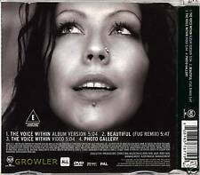 CHRISTINA AGUILERA -THE VOICE WITHIN DVD SINGLE - RARE DELETED XTINA MUSIC VIDEO