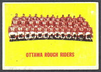 1964 TOPPS CFL FOOTBALL #58 Ottawa Rough Riders TEAM EX-NM CARD