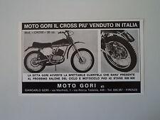 advertising Pubblicità 1971 MOTO GORI CROSS 50