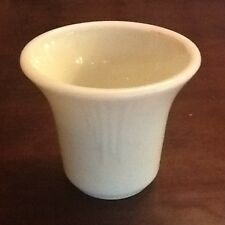 Akro Agate Very Rare WHITE Smooth Top SEVEN Dart Flower Pot SIGNED MILK GLASS