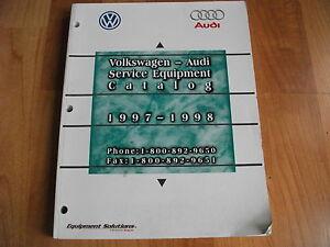 1997 1998 Audi Volkswagon Service Equipment Catalog Service Manual