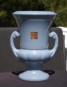 Abingdon Pottery Trophy Vase Sky Blue EXC