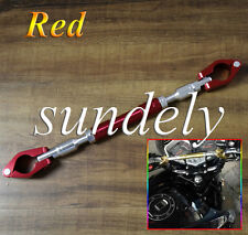 7/8″ 22mm Universal Motorcycle Aluminum alloy Handlebar Brace & Clamp Set Red US