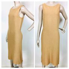 New listing Vintage St John Collection Sleeveless Brown Boucle Knit Midi Sheath Dress