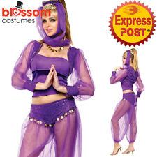 CA539 Womens Dreamy Genie Costume Arabian Nights Belly Dancer Aladdin Jasmine