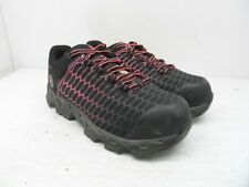 Timberland PRO Women's Powertrain Alloy-Toe Work Shoes A1RTM Black/Pink 7.5W