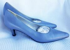 ESCADA Pumps shoes high heel Polished Light Blue LEATHER Size 6.5 B Preloved