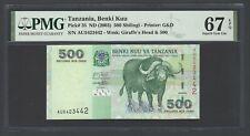 Tanzania 500 Shillingi ND(2003) P35 Uncirculated Grade 67