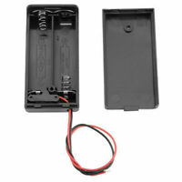 AA 3V Batteriehalter Steckverbinder Lagergehäuse ON / OFF Schalter 2 in1