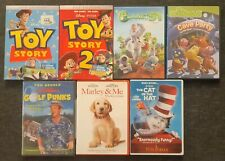 7 Kids DVD'S - Toy Story 1 & 2, The Cat in the Hat, Marley & Me, etc