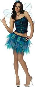 ENCHANTED BUTTERFLY Adult Costume Medium 8-10 Women Sexy Fairy Blue Wings NEW