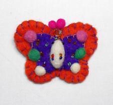 Bead & Sequin Butterfly Brooch Nepal Gringo Fair Trade Hippy Boho Ethnic Felt