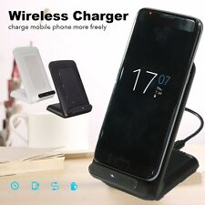 3 Coils Qi Wireless Fast Charger Charging Stand Dock Holder For Android