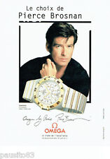 PUBLICITE ADVERTISING 096  1998   Omega montre Constellation chrono Pierce Brosn