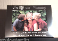 Personalised S/Plated Diamante Heart Photo Frame 6 x 4 Mummy Nan Christmas Gift