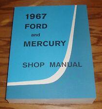 1967 Ford and Mercury Shop Service Manual 67 Big Car LTD Galaxie Monterey Wagons