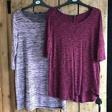 Ladies Tunic Top Bundle Size 14 Red Purple
