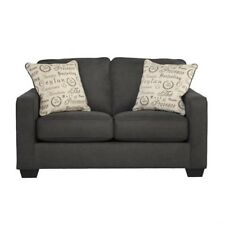 Signature Design By Ashley Furniture Alenya Microfiber Loveseat In Charcoal