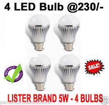 BRANDED SET OF 4 - 5W led bulb, WHITE, COOL, SAFE LIGHT, HIGH QUALITY LED BULB