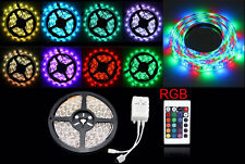 New Stylish 5M 5050 RGB  LED Strip Light 12V Waterproof Remote Xmas Lamp