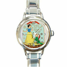 Snow White & Dopey Christmas watch (Round Italian Charm watch / wristwatch)