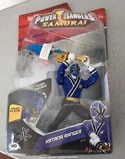 2010#VINTAGE RARE POWER RANGERS SAMURAI KATANA RANGER BLUE BLADE BANDAI BOX#NIB