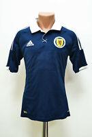 SCOTLAND NATIONAL TEAM 2012/2013 HOME FOOTBALL SHIRT JERSEY ADIDAS SIZE S ADULT