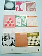 9 Vintage 1963-1964 Atomic Energy Commission Booklets Aec Nuclear Power