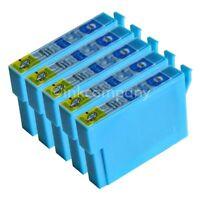 5 kompatible Tintenpatronen blau für den Drucker Epson SX235W S22 SX230