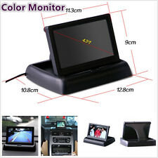 """Wired Foldable Cars Reverse Parking Camera 4.3"""" TFT LCD Digital Monitor PAL/NTSC"""