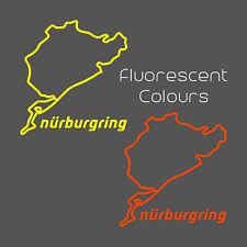 Nurburgring Fluorescent Sticker - decal race motorsport nordschleife trackday