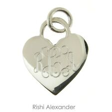 925 Sterling Silver Monogram Personalized Heart Pendant