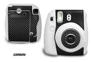 Custom Skin Sticker Wrap Decal For Fujifilm Instax Mini 8 Instant Camera CARBON